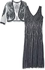 e02f8ea4636 Pisarro Nights Women s Plus Size Beaded Dress