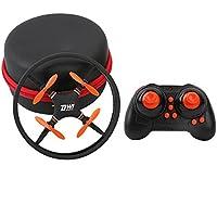 Littleice New Mini Super Durable Nano UFO Drone Space Trek 2.4GHz 4-Axis 4CH RC Quadcopter Toy Gift (Orange)