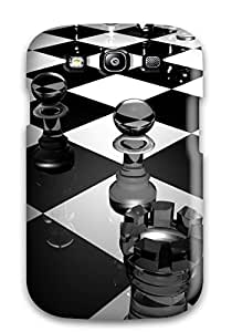 New Style High Grade Flexible Tpu Case For Galaxy S3 - 3d Chess Board
