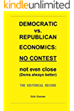 Democratic vs. Republican Economics: NO CONTEST (Dems Always Better). The Historical Record.