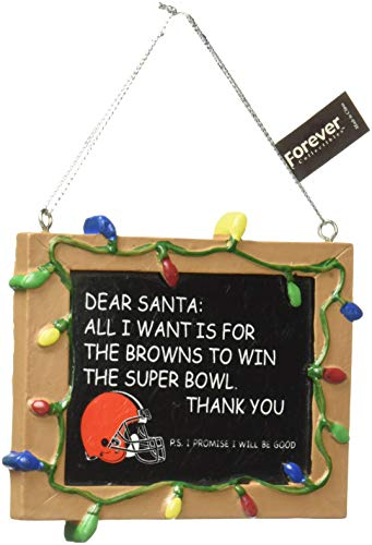 Cleveland Browns Resin Chalkboard Sign Ornament - Version 2