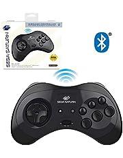 Sega Saturn Black 8-Button Bluetooth Wireless Arcade Pad [Retro-Bit]