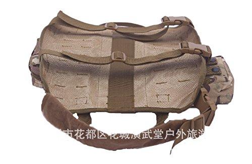 BIAOZH-Outdoor militar entrenamiento táctico accesorios paquete chaleco correa MOLLE perro ropa: Amazon.es: Productos para mascotas