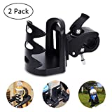 YoungRich 2 PCS Bike Water Bottle Holder Water Bottle Cages Adjustable Clip Stretchable Rack Easy to Install Universal Lightweight for Road Mountain Bike Cycling Travelling Climbing Hiking Black