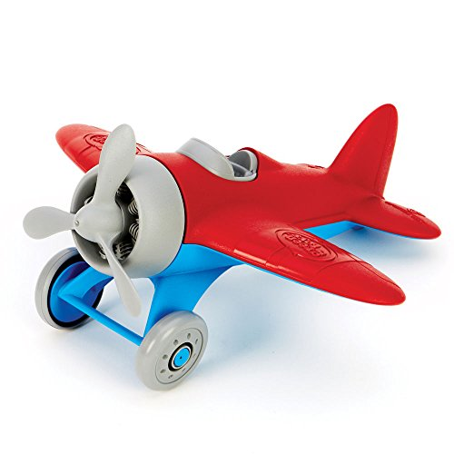 Green Toys Airplane BPA Free Phthalates Free Red Aero Plane for Improving Aeronautical Knowledge of Children. Toys and Games