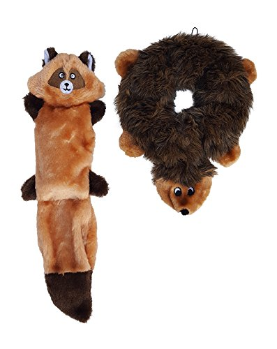 ZippyPaws Squeakers Stuffing Hedgehog Raccoon product image