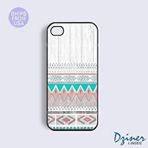 iPhone 5c Case - White Wood Aztec Pattern iPhone Cover (NOT REAL WOOD)