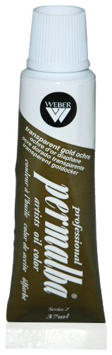 Permalba 37-Ml Artist Oil Color, Transparent Gold Ochre