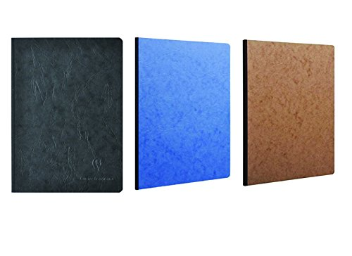 (Pack of 3 Clairefontaine Basic Large Clothbound Notebook (8 1/4
