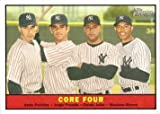 2010 Topps Heritage #411 Core Four Baseball Card - Andy Pettitte, Jorge Posada, Derek Jeter, and Mariano Rivera - Short Print