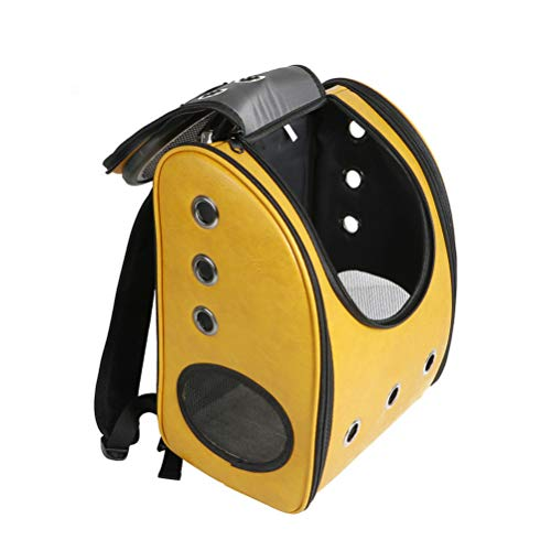 Astronaut Innovative Traveler Bubble Backpack Bag Pet Cats Dog Carriers Space (Yellow) ()