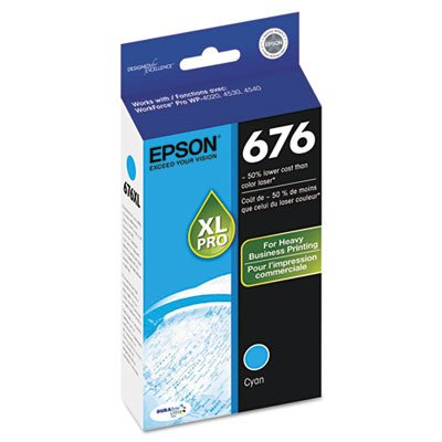 Epson DURABrite Ultra 676XL Ink Cartridge - Cyan. DURABRITE ULTRA CYAN INK CARTRIDGE I-SUPL. Inkjet