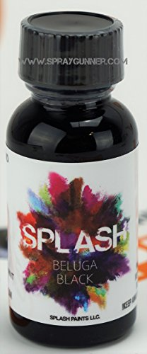 Airbrush Paint Lacquer - Color-matched scale modeling paint airbrush ready lacquer. Color: BELUGA BLACK