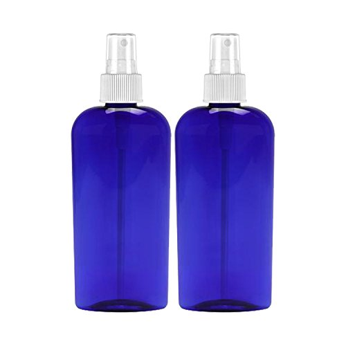 MoYo Natural Labs 8 Oz Large Mist Spray Bottle Refillable Reusable Empty 8 oz Fine Mist Bottle Cobalt Blue Oval 8 OZ Pack of (Oval Spray Bottle)