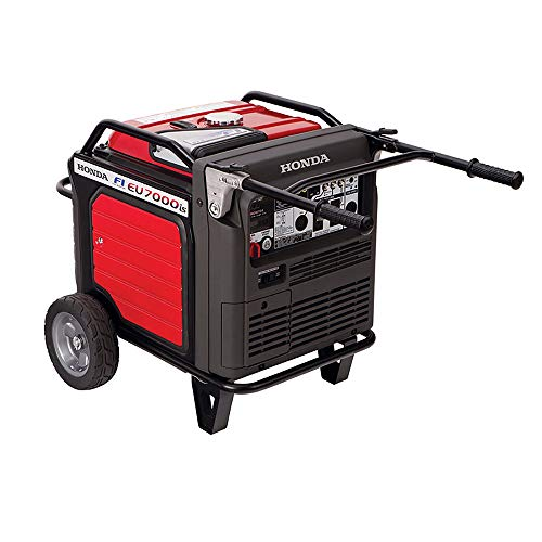 Honda Eu7000iat1 7,000 Watt Super Quiet Portable Inverter Generator with Electric Start (Best 7000 Watt Generator)