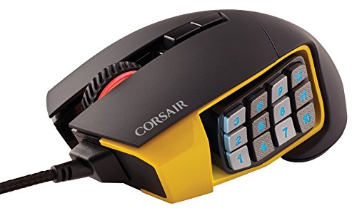 419LJqqGeML - COSAIR-SCIMITAR-Pro-RGB-MMO-Gaming-Mouse-16000-DPI-Optical-Sensor-12-Programmable-Side-Buttons-Yellow