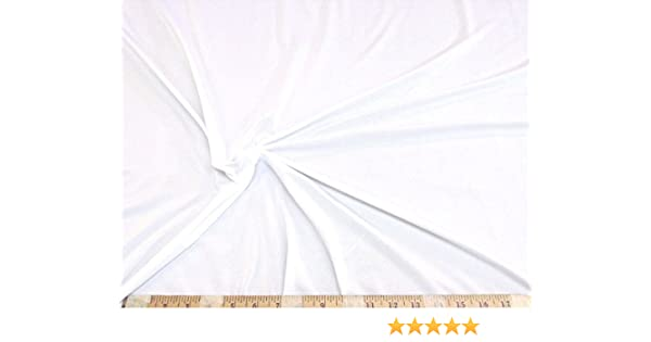 Discount Fabric Light Weight Polyester Lycra //Spandex 4 way stretch White LY785