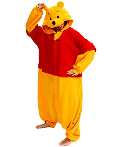 Zorabridal Pooh Cosplay Winnie Onesies Pajamas for Adults Christmas Gift