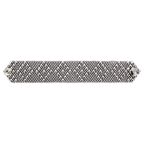 Liquid Metal by Sergio Gutierrez Antique Silver Bracelet B9-AS SG 3 Sizes - SG Pouch Included (7.5 Inches)