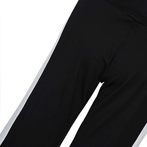 Pantaloni High Pantaloni HaiDean Pantaloni Arancia Pantaloni Libero Waist Sciolto Eleganti Moda Cucitura Trousers Nero Estivi Larghi Tempo Donna Palazzo Bianco Accogliente Glamorous Semplice Elastico wIqwR