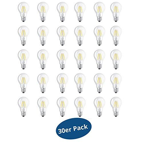 30er Pack OSRAM LED BASE FILAMENT CLA60 E27 7W (60Watt) 806 lm warm Weiß