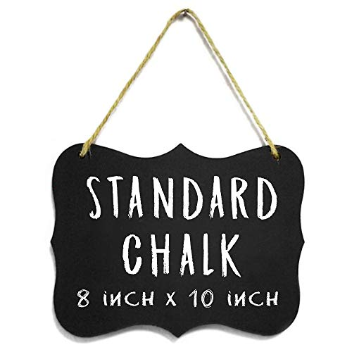 Double Reversible Chalkboard Sided (3 Large Hanging Acrylic Chalkboard Signs 8x10