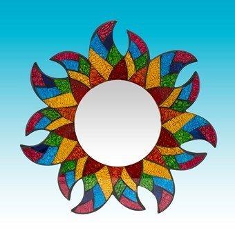 Mosaic Sun Mirror Wall ()