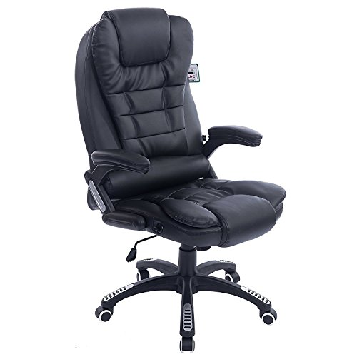 Cherry Tree Furniture Executive Recline High Back Extra Padded Office Chair, Black