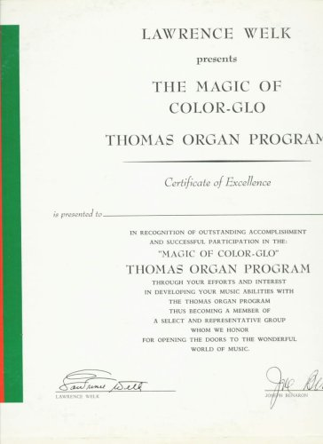 [LP Record] Lawrence Welk Presents - The Magic of Color-Glo, Thomas Organ Program by Thomas Organ Company
