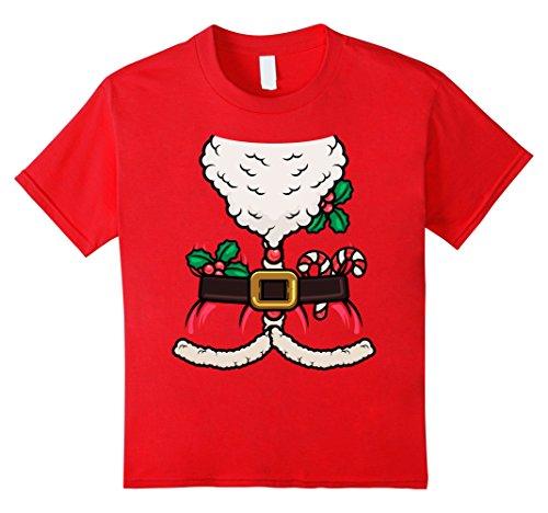 St Nicholas Children's Costume (Kids Santa Claus Merry Christmas Saint Nicholas Nick T Shirt 12 Red)