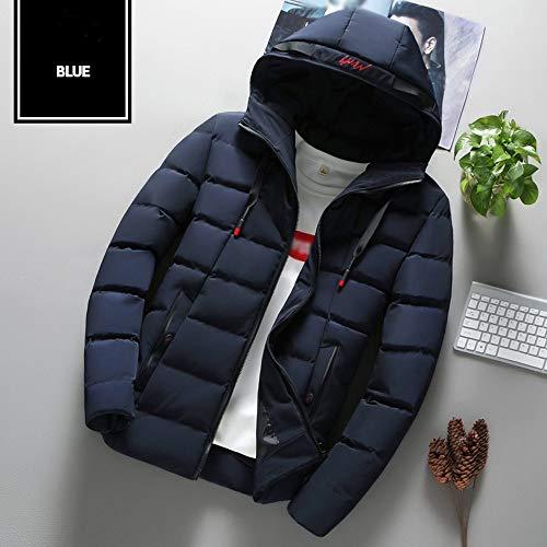 Casual Outwear Manteau Grande Solide Doudoune Vêtements Day Taille Couleur Coton Hommes Chaud À Capuche Air Épaissie C lin Hiver Liquidation Mode Plein En Bleu 0HOT7A0