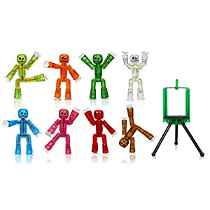 Zing Stikbot 8 Clear Pink/Orange/Clear/Blue/Light Green/Dark Green/Red/Brown and Green Tripod - 419LMSGILbL - Zing Stikbot 8 Clear Pink/Orange/Clear/Blue/Light Green/Dark Green/Red/Brown and Green Tripod