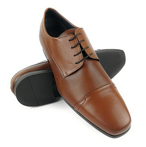 Zerimar Hommes Chaussures En Cuir Chaussures À Lacets Chaussures À Lacets Pour Hommes Couleur Cuir Taille 41