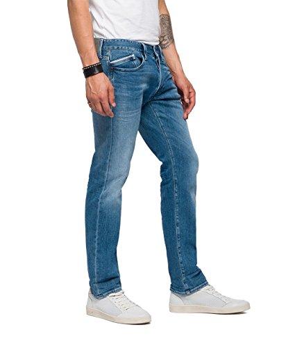 Replay Uomo Waitom light Jeans Blu Blue Straight 10 dqqTrwxt