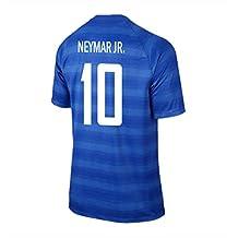 Neymar Jr. #10 Brazil Away Soccer Jersey