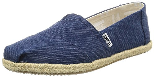 TOMS Women Slip-On Shoes, Size: 6 B(M) US, Color Navy Washed Canvas