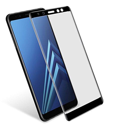 Película de Vidro 3D para Samsung Galaxy A8 Plus, Cell Case, A730, Preto