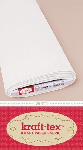 "kraft-tex Bolt 19"" x 10 yards, White: Kraft Paper Fabric (kraft-tex Basics) by C&T PUBLISHING"