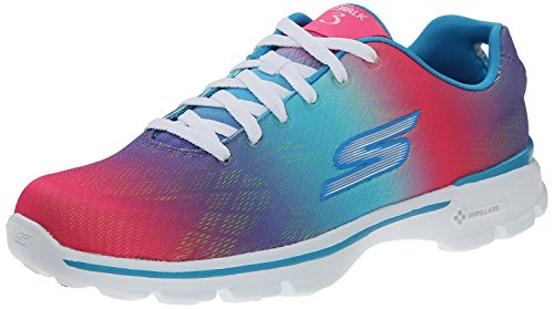 Skechers Performance Women's Go Walk 3 Pulse Walking Shoe, Multi, 8 M US (Skechers Go Walk With Memory Foam)