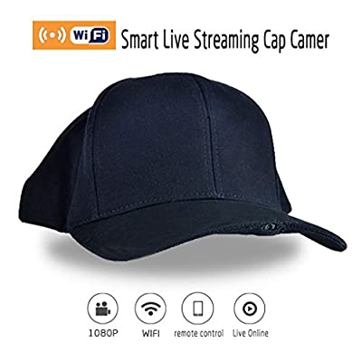 Generic Wearable Live Streaming Hat Cam FHD 1080P Wireless Cap Hidden SPY Wifi Camera