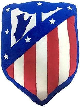 Atlético de Madrid. Cojín Terciopelo con Forma de Escudo y Licencia Oficial del Club.: Amazon.es: Hogar