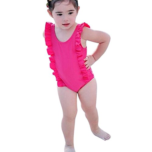 92f90005284 TIFENNY Kids Baby Girl One Piece Bikini Set Cute Ruffles Swimwear Swimsuit  Bathing Solid Beachwear Sunsuit