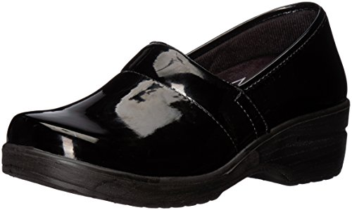 Easy Works Women's Lyndee Health Care Professional Shoe, Black Patent, 7.5 M US