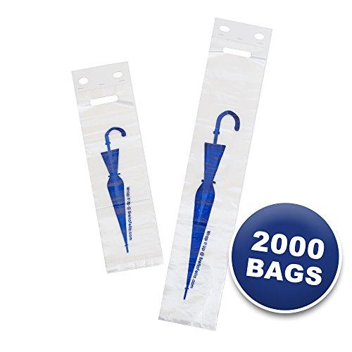 - Brella Fella Universal Fit Wet Umbrella Replacement Bag Refill 2000 Bag Combo - Tatco Compatible - Includes 1000 Long Bags and 1000 Short Bags