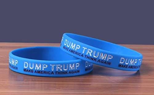 Dump Trump Lot of 2 Wristband Silicone Bracelet Shipped from USA