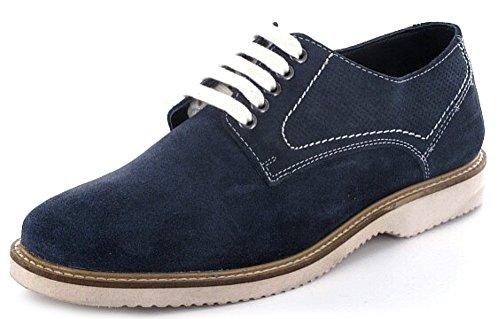 Montega Homme Daim Lacets Chaussures basses en bleu