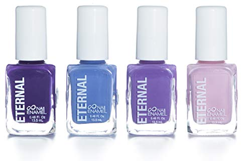 - Eternal 4 Collection - 4 Pastel Nail Polish Set: Long Lasting, Quick Dry, Shiny Finish (Hola Bonita)