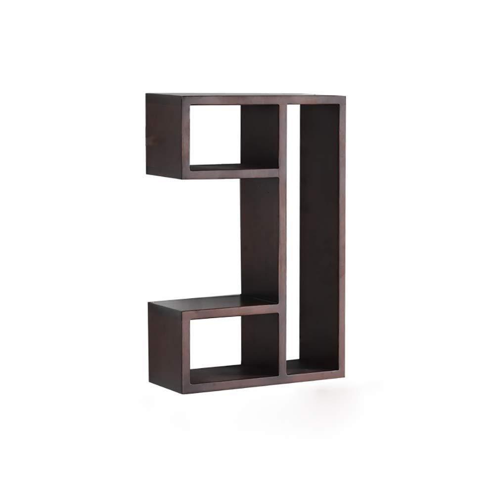 フローティング棚U字型の棚リビングルームユーティリティユニット収納ディスプレイスタンド装飾壁棚 (色 : Brown) B07QPQXCDP Brown