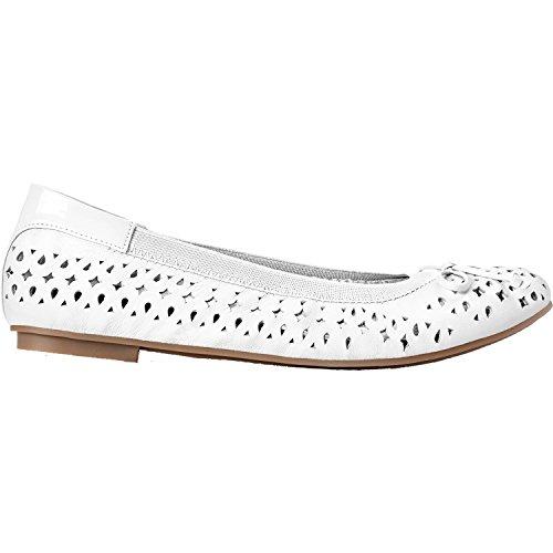 Vionic Womens Surin Ballet Flat, White, Size 7.5 Wide