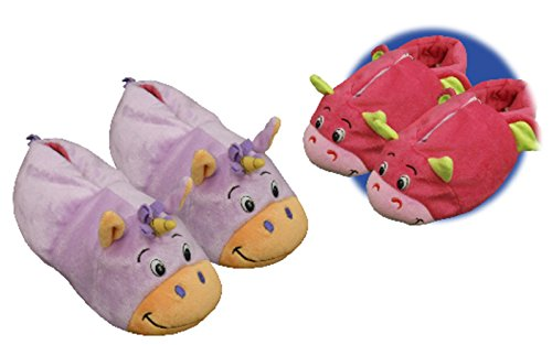 Flipazoo AS Seen On TV Slippers Unicorn Transforming to Dragon Size Medium 12/13 - Two in One Warm & Comfy Plush Slippers